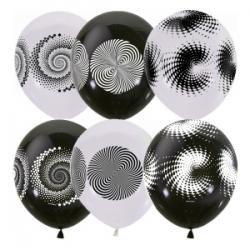 """12""""/30см BLACK&WHITE (шелк) 4 ст. рис Иллюзия  с обр."""