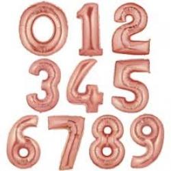 Фольгированные цифры,розовое золото