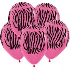 Шар фуксия зебра с обработкой.