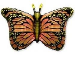 Бабочка крылья розовые,оранжевые,зеленые 56 см /97 см