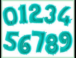 Фольгированные цифры,тиффани