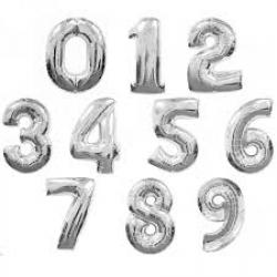 Фольгированные цифры,серебро