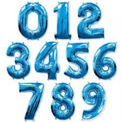 Фольгированные цифры,синий