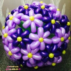 Букет из 25 цветов (сиреневый)