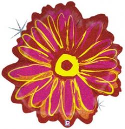 Цветок, Розовый, Голография 48см