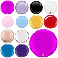 """Фольгированные круги,цвета в ассортименте """"18"""""""