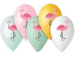 Фламинго, 3 цв, пастель, 14