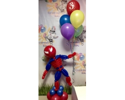 Человек паук с шарами №2