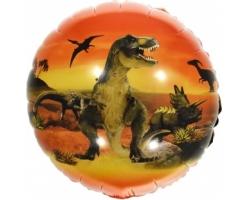 Шар (18''/46 см) Круг, Эра Динозавров (динозавр)