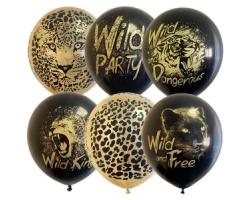 """12""""/30см BLACK&GOLD ассорти рис Wild Party c обр."""