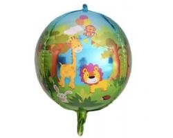 Сфера 3D, Веселые животные (джунгли), 24''/61 см