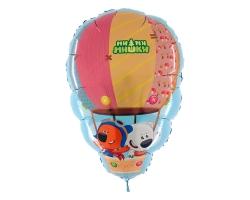 "Ми-ми-мишки на воздушном шаре, 28""/66*43см"