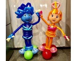 Человечки герои оранжевый и голубой