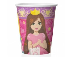 Стаканы (250 мл) Куклы-принцессы, Сиреневый/Розовый, 6 шт.