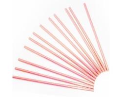 Трубочки для коктейлей Розовый перламутр, 12 шт.