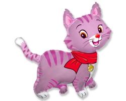 """Мой милый котенок в шарфике (розовый), 37""""/94 см"""