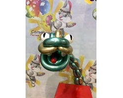Змей из шаров хром