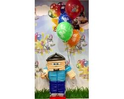 Майнкрафт герой с 5 шарами с рисунком