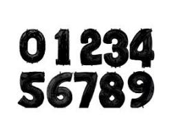 Фольгированные цифры,черный