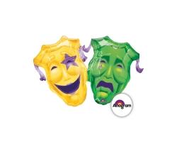 Шар Театральные маски, 90см