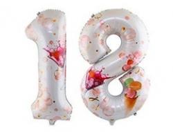 """ЦИФРА 18 40""""102см Совершеннолетие Macaron"""