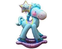 Лошадка фольгированная (ходячая напольная фигура)