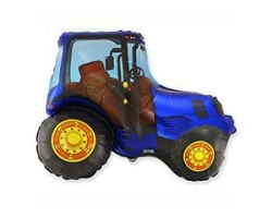 Фигура Трактор синий, 75смх92см