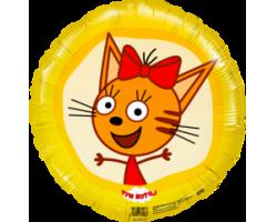 18' Круг  Три Кота, Карамелька, Желтый