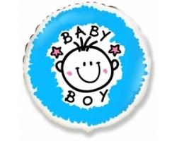 Круг для мальчика с гелием