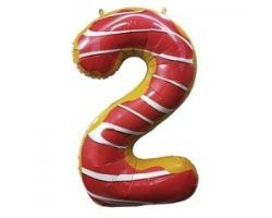 """Фигура Цифра 2 Пончик 40""""/102см"""