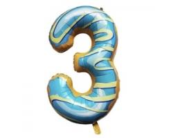 """Фигура Цифра 3 Пончик 40""""/102см"""