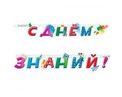 """Гирлянда-буквы """"С днем знаний!"""", 2,2 м"""