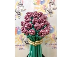 Букет 25 роз хром