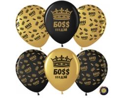 Босс $$$ Дэй (корона), Золото/Черный, металлик,с обработкой.