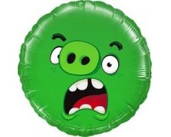 "18"" Круг, Angry Birds, Зеленый"