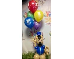 Гонщик щенячий патруль +5 шаров с рисунком