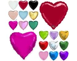 """Фольгированные сердца,цвета в ассортименте """"18"""""""