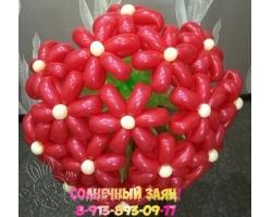 Букет из 15 цветов (красный)